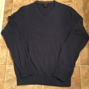 Banana Republic Navy Luxury Blend V-Neck Sweater S